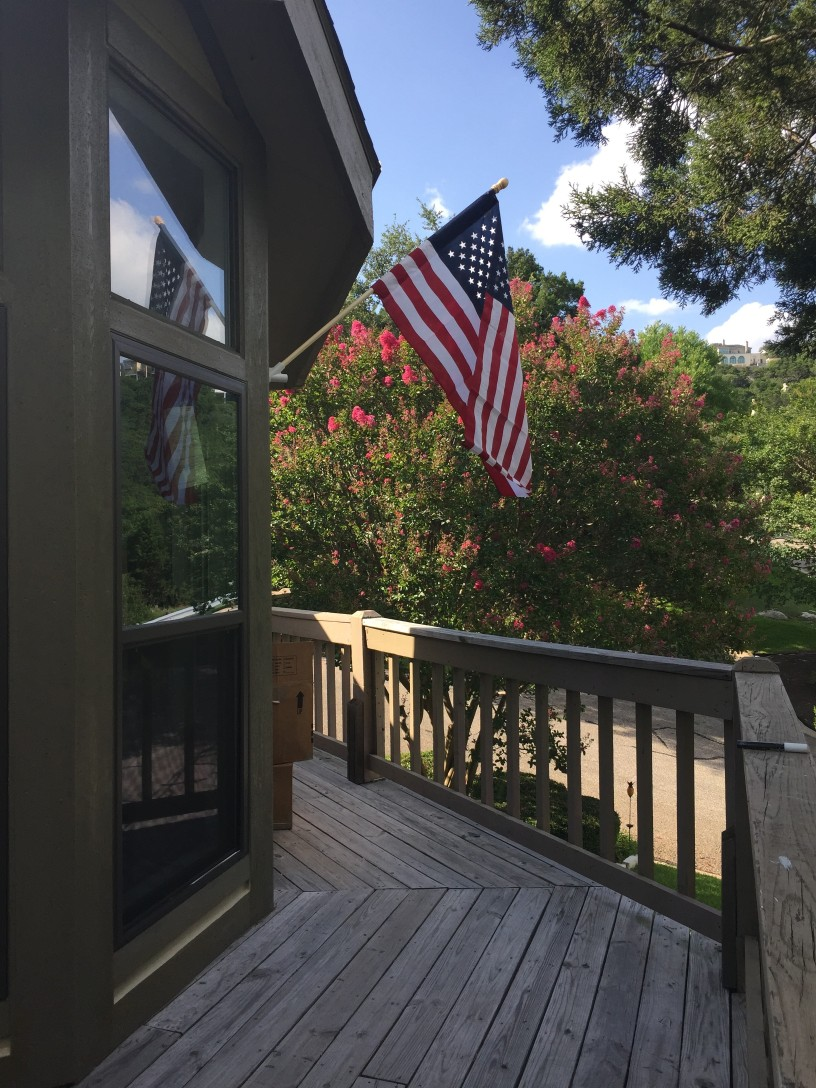 flag at our house